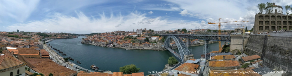 Porto and Douro pano from top of Gaia - By Dicklyon - Own work, CC BY-SA 4.0, commons.wikimedia.org=79529006
